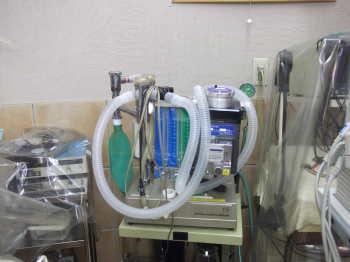 麻酔、人工呼吸器