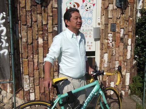 この自転車で、サイクリングに行ってます。